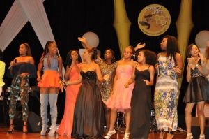 Honey Jam ladies with Ebonnie Rowe (fourth from left).