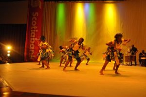 Dancin Africa brought life to Frank Collymore Hall with their piece Ngoma.