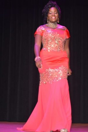 Best Gown winner and first runner-up Katherine Alleyne.