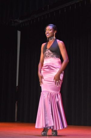 Second runner-up Akeila Darlington in formal wear.