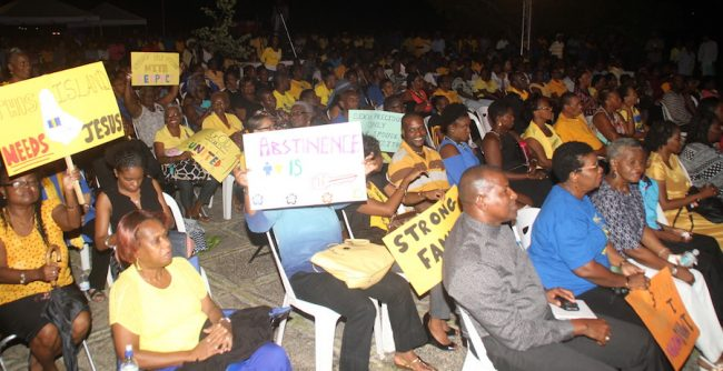 Hundreds of Christians attended the Barbados Rally.