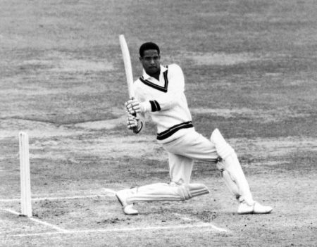 Garfield Sobers breaks a 20-year-old Test batting record, scoring 365 at Sabina Park. (Photo: Cricinfo)