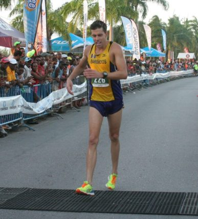 First Bajan home in the 10K and fifth overall was Matthew Wright.