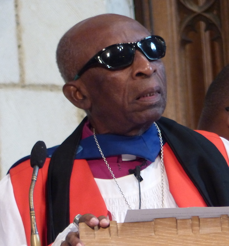 Bishop Wilfred Wood delivering the sermon.
