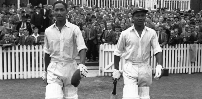 Sir Frank Worrell (l) and Sir Everton Weekes, two of Barbados' and the world's greatest ever cricketers.