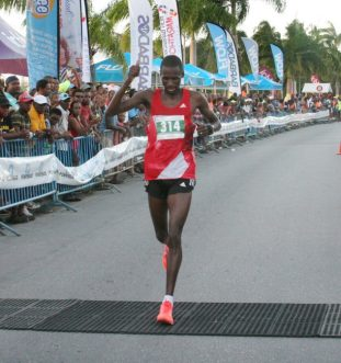 Steve Tanui from Kenya came second in Saturday's 10k.
