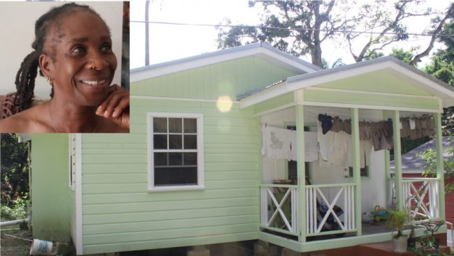 Felicia Skeete (inset) now has a newly renovated family home in time for the Holiday Season.