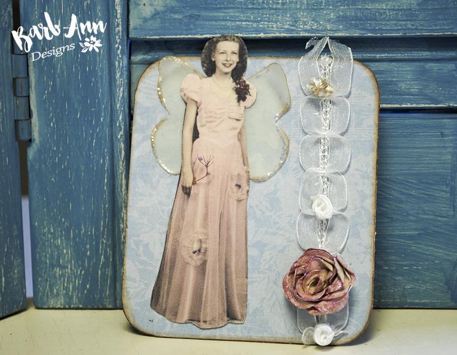 vintage photo magnet mom wm | Barb Ann Desings |