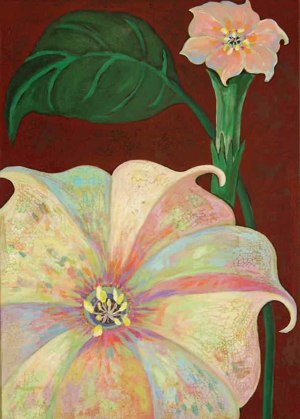 Blüte 1, 2011, 70x50cm, Mischtechnik auf Leinwand