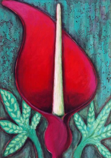 Blütenpracht 1, 2011, 70x50cm, Mischtechnik auf Leinwand