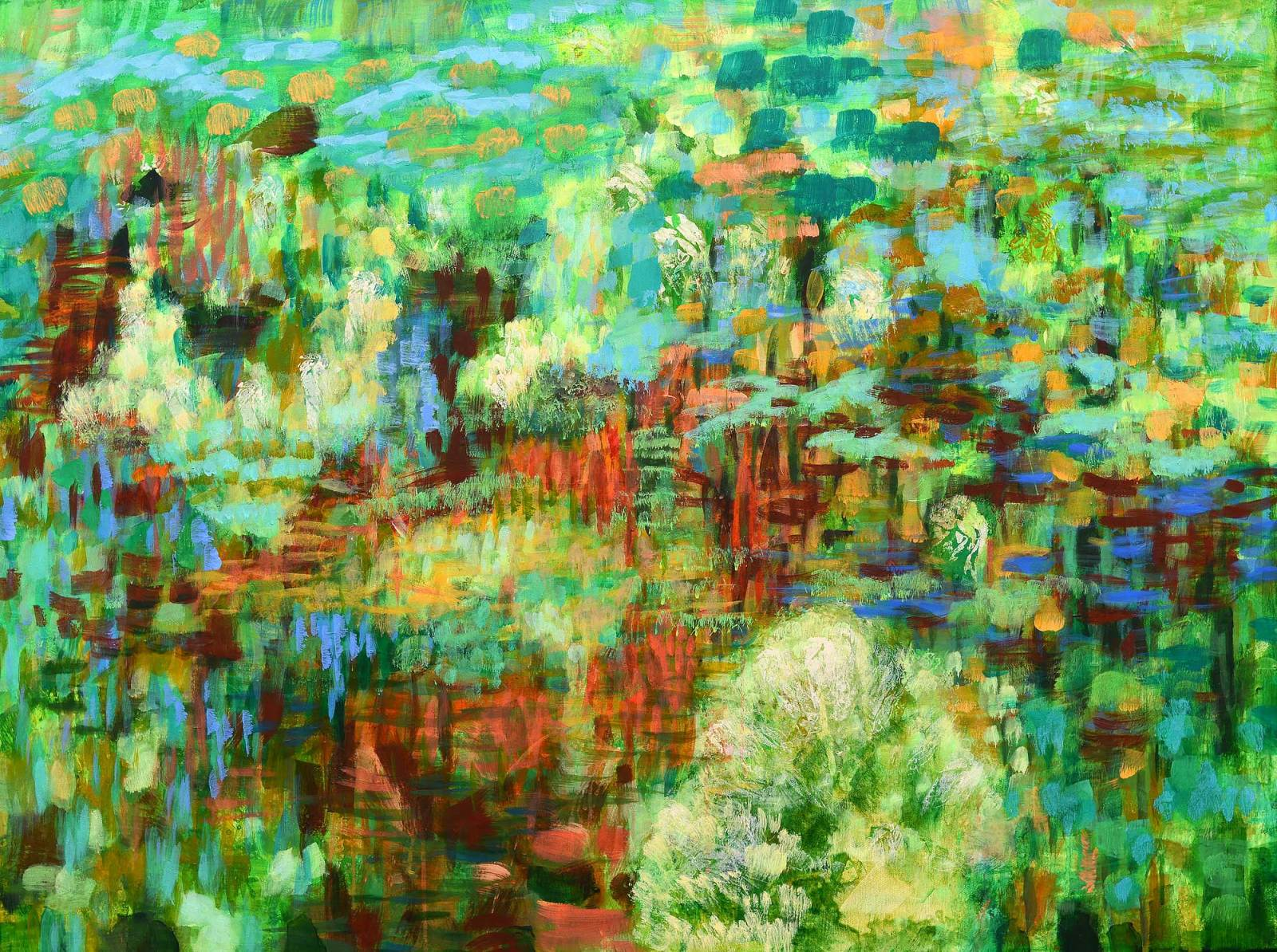 Grüne Landschaft 1, 2016, 190x120cm, Acryl auf Leinwand