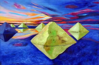 Traumpfade 2, 2006, 100x150cm, Mischtechnik auf Leinwand