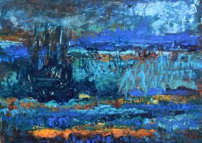 Wildes Meer, 2017, 80x110cm, Acryl auf Leinwand