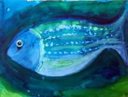 Fisch, 30x40cm, Aquarell auf Papier