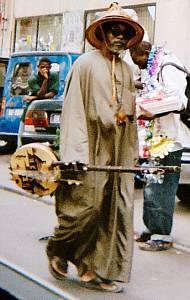 Straßenmusiker in Dakar