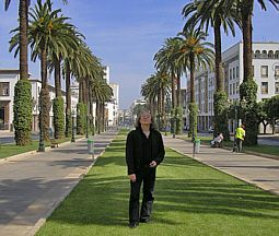 Jean Pacalet auf der Avenue Mohammed V. in Rabat