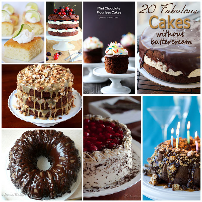 Cake Decorating Ideas without Buttercream   Barbara Bakes Cakes without buttercream collage
