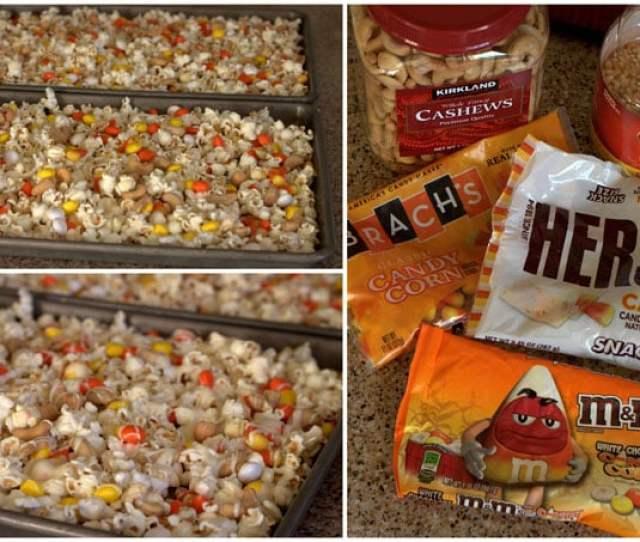 Making Candy Corn Popcorn