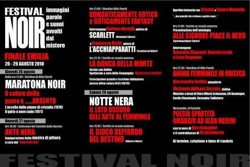 Barbara Baraldi e Scarlett al Festival noir di Finale Emilia