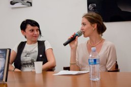 con Mirella Malaguti, durante la presentazione bolognese