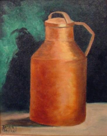 Brass Milk Can, still life