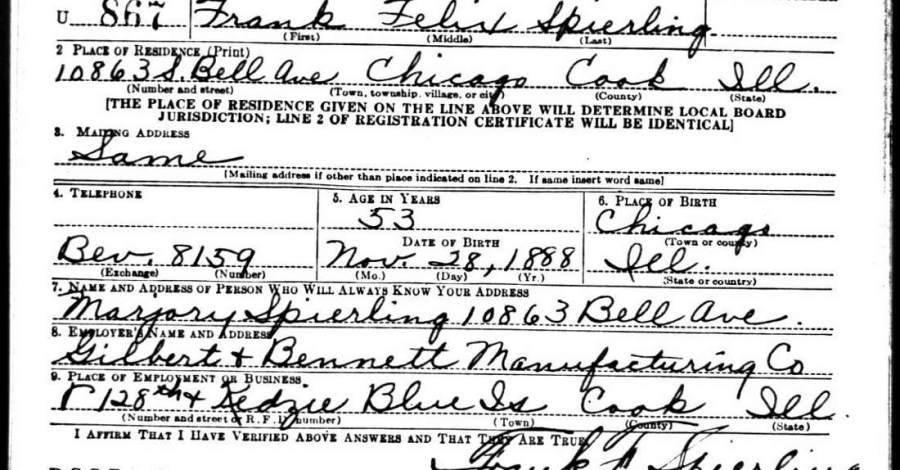 Birth Dates Available on World War I and World War II Draft Registration Cards