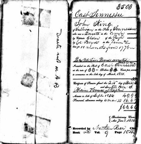 Revolutionary War Pension Application Files, Memory and a 42 Year Old Photograph