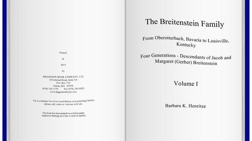 The Breitenstein Book is Done