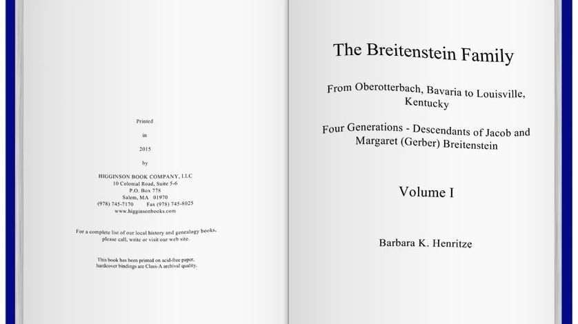 The Breitenstein Book is Done