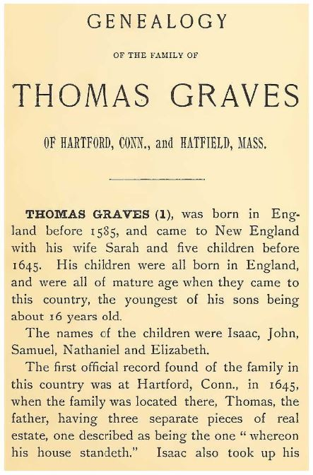 Someone Already Wrote a Book about This Graves Family