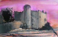 Laugharne Castle watercolour