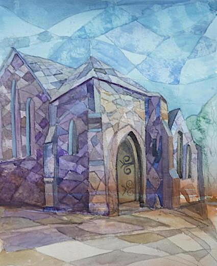 Mathry church watercolour