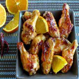 Orange Chipotle Chicken Wings