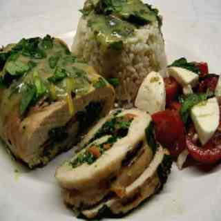 Grilled Italian Chicken Roll