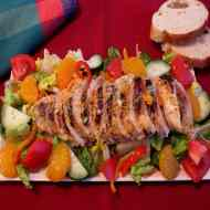 Grilled Chicken Salad with Orange Dressing