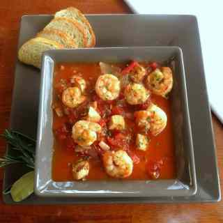 Grilled Chicken and Shrimp Cioppino