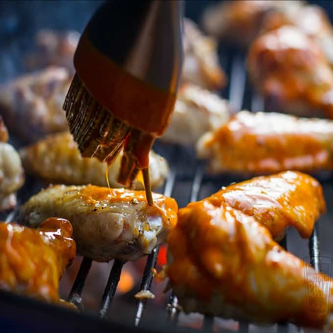 Saucing and Basting Chicken Wings