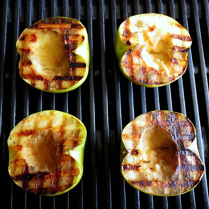 Grilling up the apples