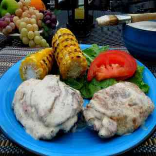 Grilled Chicken with Alabama White Sauce