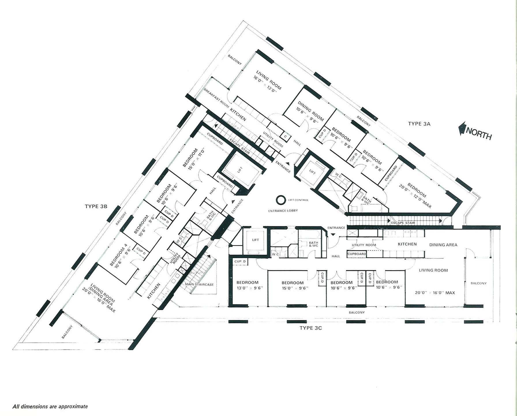 Lauderdale Tower Flat Plans