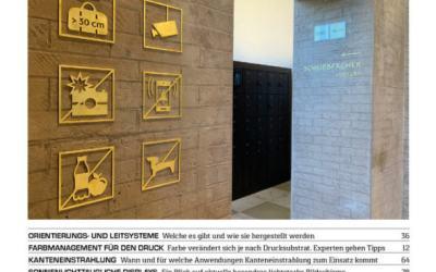 "Barbieri technology mentioned in German Magazine ""Werbetechnik"""