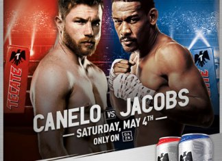 Tecate official beer of boxing