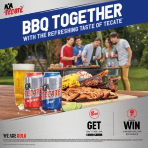 Tecate BBQ summer promo