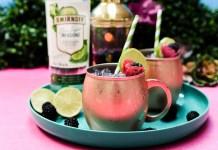 Smirnoff Blackberry Cucumber Moscow Mule cocktail recipe