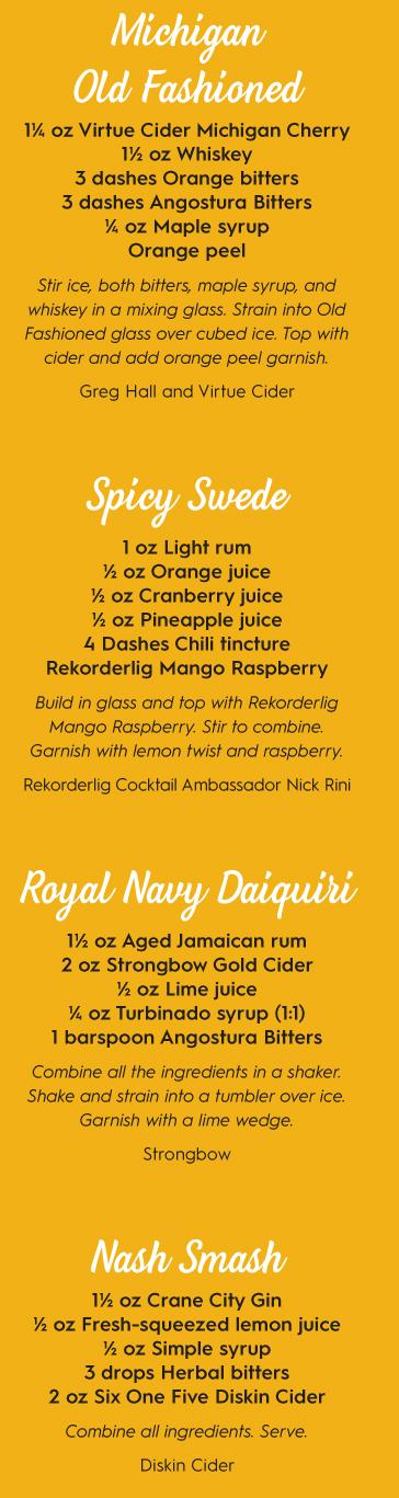 cider cocktail recipes