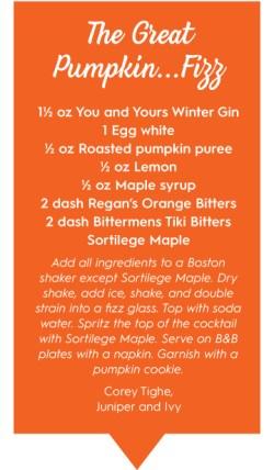 great pumpkin fizz cocktail recipe