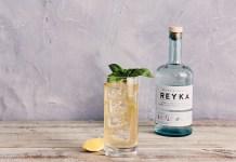 Reyka Vodka basil spiced collins cocktail recipe