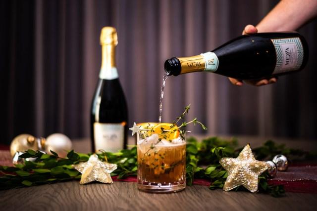 Mezza di Mezzacorona Christmas Thyme Cocktail Recipe