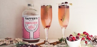 Taffer's Mixologist Christmas Cosmobellini cocktail recipe