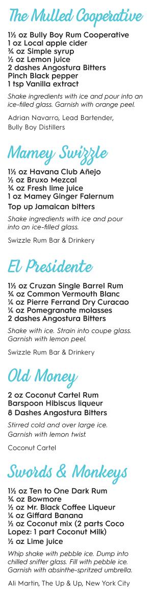 rum cocktail recipes